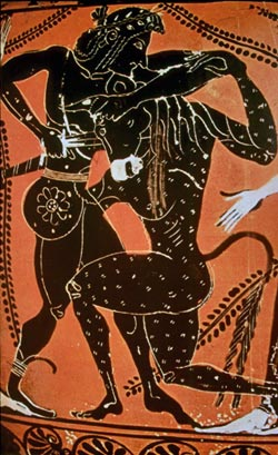 king minos and the minotaur The myth of theseus and the minotaur - greek myths greekmyths-greekmythologycom the minotaur was the son of pasiphae, wife of king minos of crete minotaur, half man - half bull queen pasiphae slept with a bull sent by zeus, and gave birth to minotaur, a creature half man - half bull.