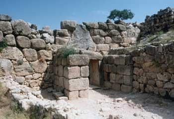 Interior of the Lion Gate. Mycenae