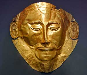 Gold Mask of Agamemnon.Circle A. Mycenae