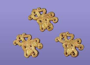 Gold Octopus Ornaments from Circle A, Grave IV