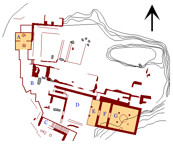 Plan of the Palace at Mycenae
