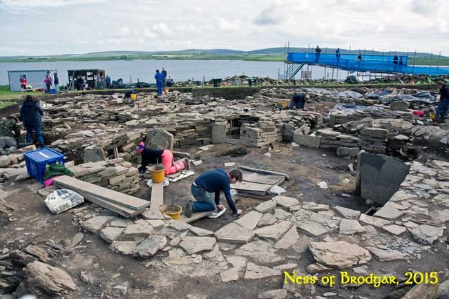 Excavations at the Ness of Brodgar.Summer 2012