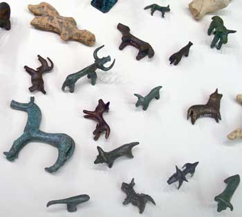 Image result for Example: Bronze animal statuettes from Olympia, voice offering, 8th-7th century BC.